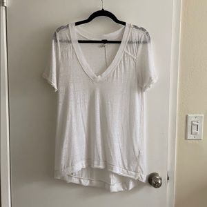 Free People white asymmetric top